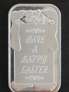 1993 Silver Towne Have A Happy Easter Silver Art Bar Lot P1607