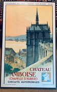 Vintage Travel Poster Chateau Amboise Printed In France 1935