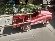 Working Vintage Gearbox Jet Flow Drive Fire Truck Pedal Car N-287