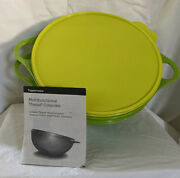 Tupperware Multifunctional Thatsa Colander And Bowl 5.4l Green With Yellow Lid