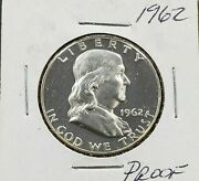 1962 P Franklin Silver Half Dollar Coin Nice Gem Proof Some Toning Not Much