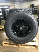 17 17x8 Black A2 Off Road Rims Wheels 35 At Tires 6x135 Ford F150 Expedition