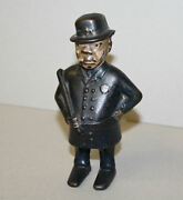 Antique Cast Iron Still Coin Bank Andndash Mulligan The Policeman Andndash Bennet And Fish