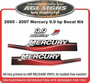2005 2006 2007 Mercury 9.9 Hp Reproduction Decals 15 Hp Custom Colours Avail.