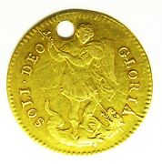 Rare 17th Century Gold Touch Piece Of King James Ii 1685 - 1688