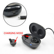 1 Pair Rechargeable Invisible Hearing Aids Adjustable Tone Sound Amplifier 2021
