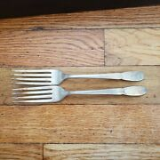 2 Antique Vintage Collectible Fork 7.5 1847 Rogers Bros Silver Plate-