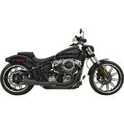 Bassani Manufacturing Road Rage Iii Exhaust System Black Fxdr Softail Fat Boy