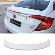 Abs White Fit For Honda Civic 2016-2020 Mc Style Rear Boot Spoiler Wing Flap 1x