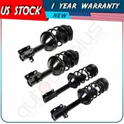 2 Front And 2 Rear Complete Strut Coil Springs W/ Mount For 98-02 Subaru Forester
