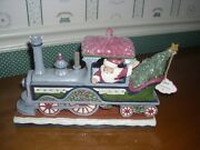 Jim Shore-2018-victorian Santa In Train Engine-delivering A Merry Christmas