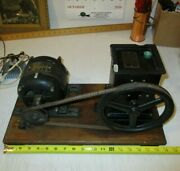 Antique Science Display Ge 1/12 Hp Direct Current Motor 20200 And Cenco Hyvac Pump