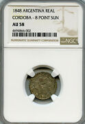 Argentina 1848 Silver 1 Real Ngc Graded Au58