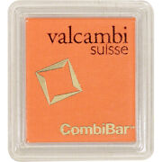 Valcambi Suisse 20x1 Gram Gold Combibar 0.64 Oz With Assay Card