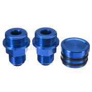 Rear Block Breather Fittings And Plug For B16 Catch Can M28 To 10an H!