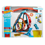Hot Wheels Track Builder Unlimited Triple Loop Kit Brand New Fast Shipping