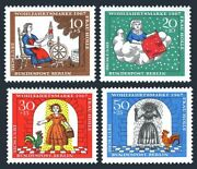 Germany 9nb49-9nb52,mnh.michel 310-313.frau Holle,brothers Grimm,1967.cock.