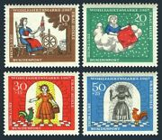 Germany B426-b429,mnh.michel 538-541. Frau Holle,brothers Grimm,1967.cock.