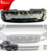 With For Isuzu D Max Picup 2012-2015 Front Grille Chrome Logo Yellow Led Si326
