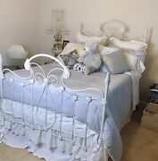 Authentic Antique Cast Iron Bed From The Turn Of The Century.