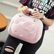 Hello Kitty Cosmetic Case Box Beauty Makeup Case Bag Travel Suitcase Luggage