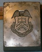 1930s Western Military Academy 7 Lb Stamping Die Alton Il Mc Lilley