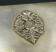 Russian Imperial Eagle Cigarette Case Sterling Silver 84 St Petersburg M1234
