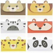 48x Cute Animal Letter Stationary Set With Envelopes For Invitation 6 Designs