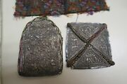 Set Of 2 India Or Russia Antique Silver Amulet Prayer Book Psalms Covers 3 X 4