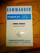 Ford Commander 302 351 Owners Manual