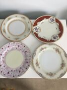 Occupied Japan 10andrdquo Plates Sone Spoto Lot Of 4 Hand Painted