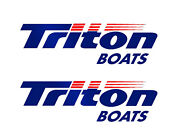 Set Of 2 Marine Grade Vinyl Decals Fits Triton Boat Hull. Mailed W/tracking