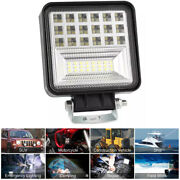 4 126w Offroad Led Work Light Bars Spot Flood Beam For Jeep Tractor Atv Truck