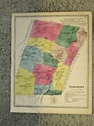Simsbury Ct. Vintage Hand Colored 1869 Map. Not A Reprint.