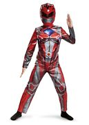 Power Rangers Movie Red Ranger Halloween Costume And Mask Boys Large Cosplay