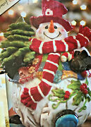 Home Interior- Patches The Snowman Cookie Jar --new In Box