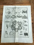 1751 Large Illustrated Print - Fortification Military