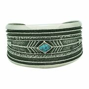 Monty Claw, Bracelet, Number Eight Turquoise, Arrows, Navajo Handmade, 6 5/8