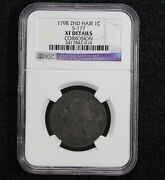 1798 Draped Bust Large Cent 2nd Hair Style S-177 Ngc Xf Details Net Vf-25
