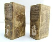 1630 2 Vol. Universal Vices Of Language By Jeremias Drexel Antique Illustrated