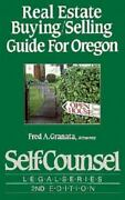 Real Estate Buying-selling Guide For Oregon By Fred A. Granata