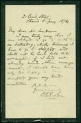 Charles G. Chinese Gordon - Autograph Letter Signed 01/06/1874