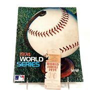 World Series 1974 Official Program Game 5 Ticket