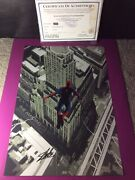 Rare The Amazing Spiderman 2 Promotional Poster Signed By Cast Stan Lee+c.o.a