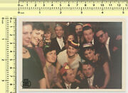 064 Party People Group Abstract Portrait Men Women With Hats Vintage Photo Orig