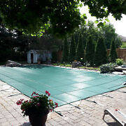 Vevor Pool Safety Cover Inground Pool Cover 27x47ft Rectangle Safety Pool Cover