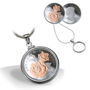 🇨🇦 Canada 3 Dollars Silver Coin Queen Elizabeth Gold Rose Blossoms, Unc, 2019