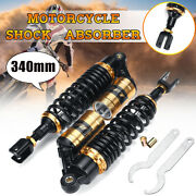 Pair 13.5and039and039 340mm Rear Air Shock Absorbers Suspension For Atv Motorcycle Dirt