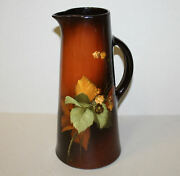 Antique Louwelsa Weller Pottery Tankard – Lizzie Perone Signed – 12 1/2″ Height