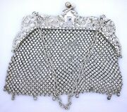 1880 Large Ornate Howard And Cockshaw Co Victorian Antique Sterling Silver Purse